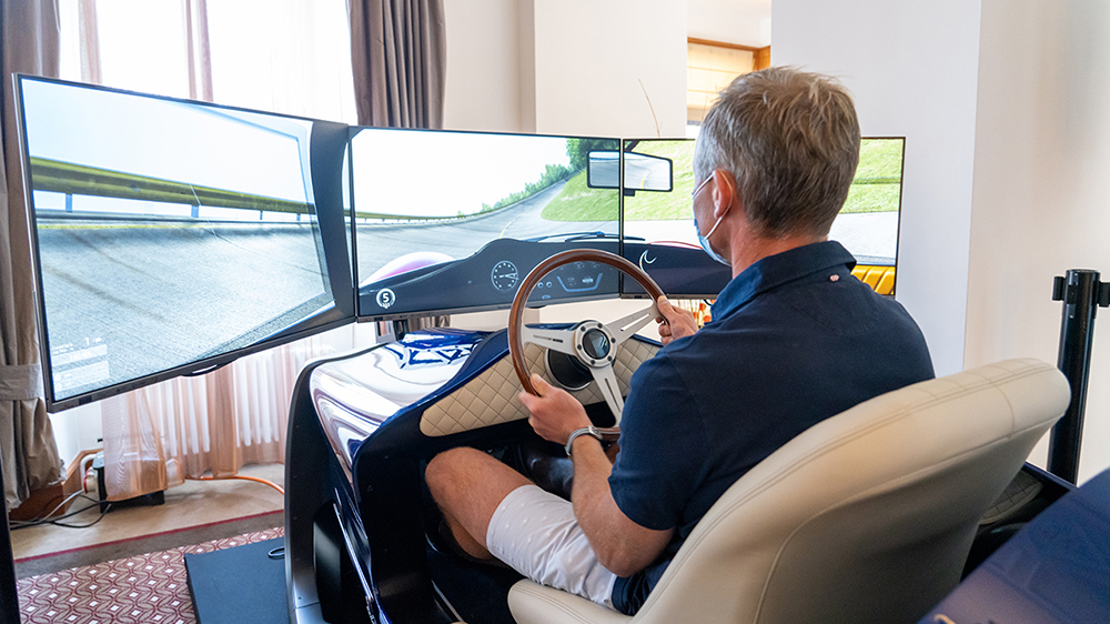The Classic Car Trust and Racing Unleashed's eClassic racing simulator