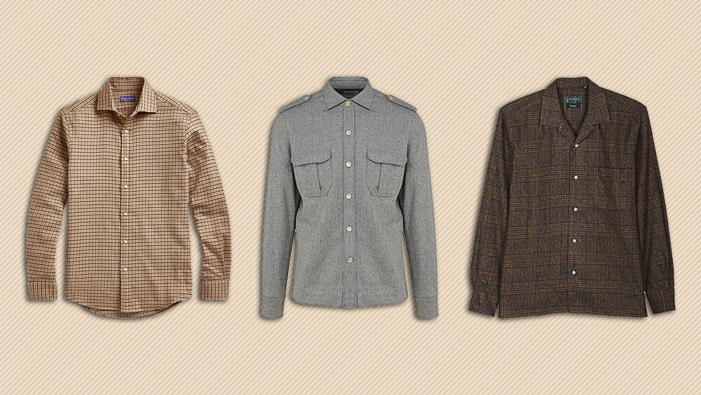 Flannel shirts from Ralph Lauren, G. Inglese and Gitman Vintage