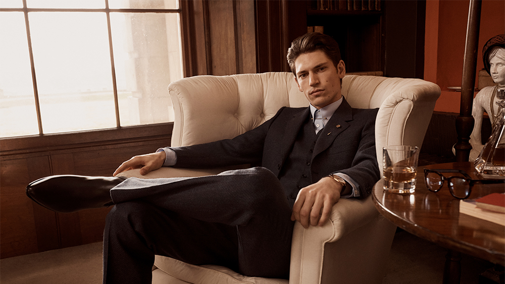 A three-piece suit from the new Kingsman collection.