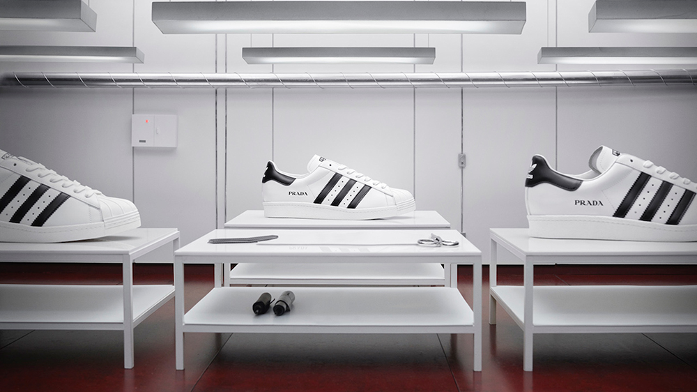 The Adidas x Prada Superstar