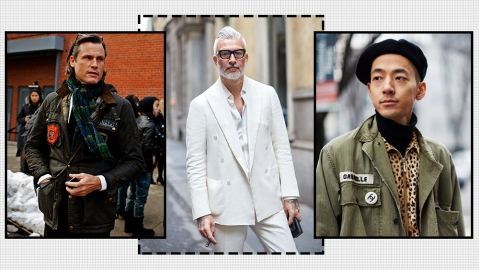 A few of The Sartorialist's favorite menswear street style images.