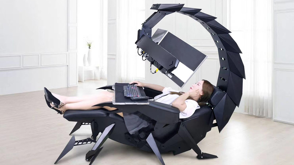 Cluvens S Zero Gravity Gaming Chair Wraps Around You Like A Scorpion Robb Report