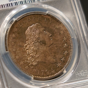 "1794 ""Flowing Hair"" silver dollar"