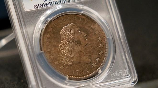 "1794 ""Flowing Hair"" silver dollar"
