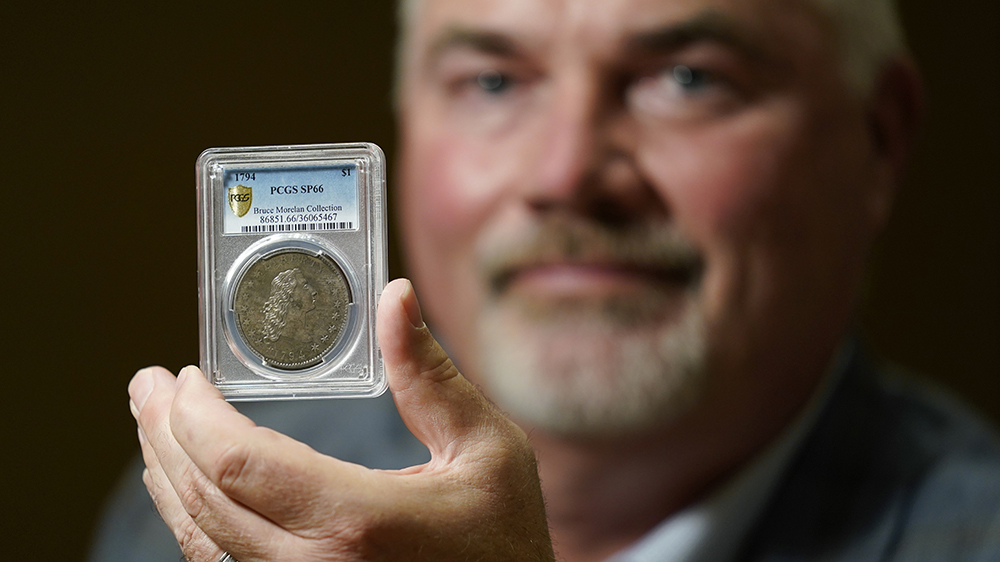 Bruce Morelan and his 1794 'Flowing Hair' silver dollar
