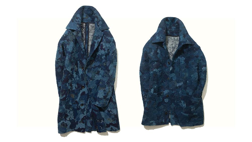 Chindi raglan coat ($1,600) and chore coat ($1,400)