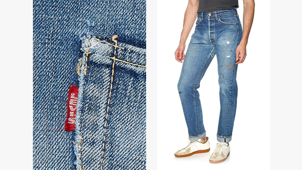 Big E jeans from What Goes Around Comes Around.