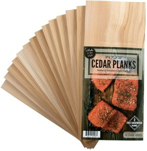 Wood Fire Grilling Co. Cedar and Hardwood Plank Set