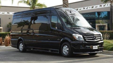 AddArmor's armored Mercedes-Benz Sprinter van.