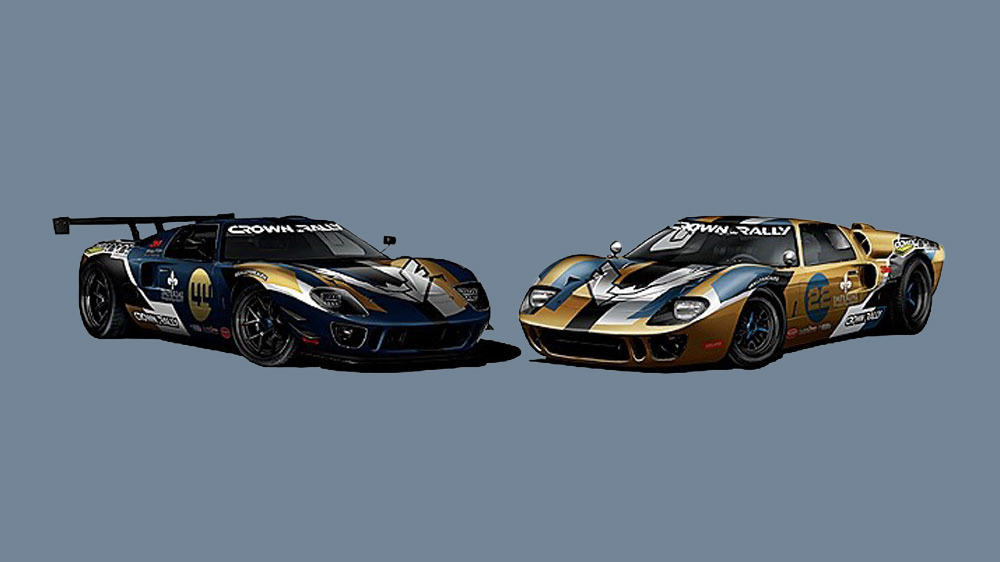 Two Ford GT40 recreations built by Superformance and presented by Downforce Motorsports.