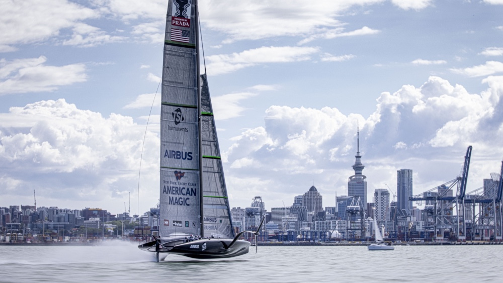 America's Cup Yacht Patriot Completes Its First Sail in Auckland