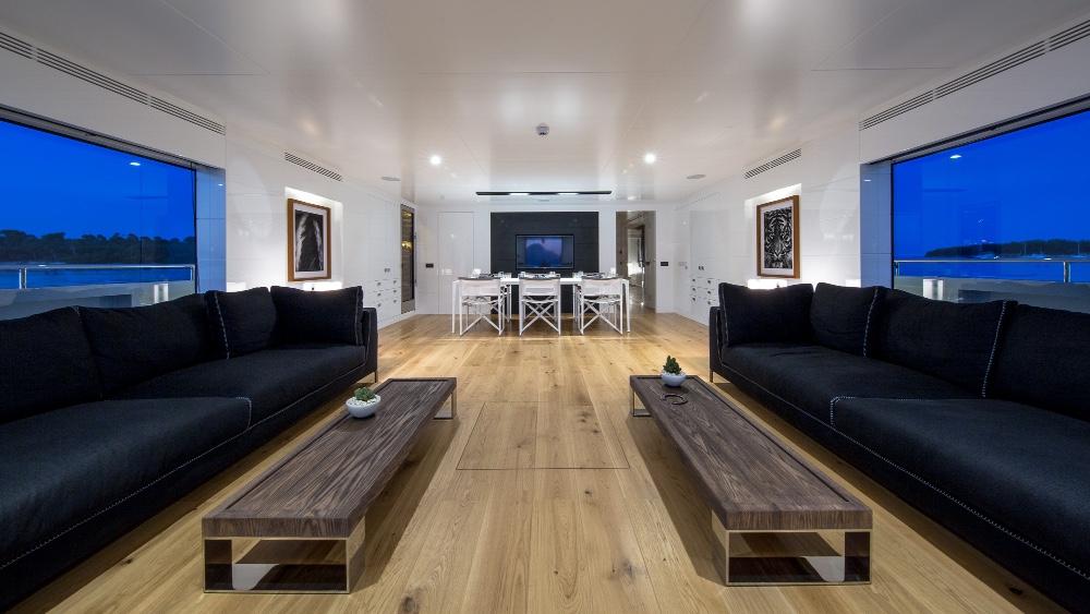 Sexy Fish superyacht has a beach house interior design