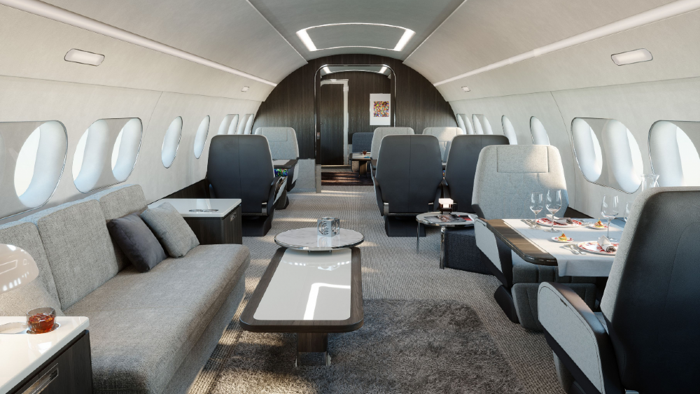 The new ACJ TwoTwenty is a super-cool business jet with a huge lounge