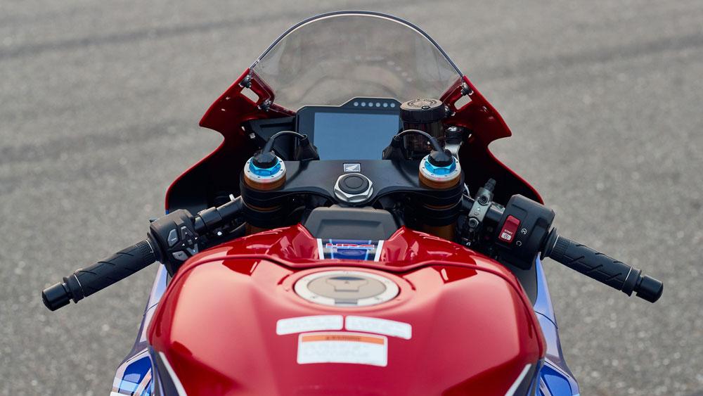 The 2021 Honda CBR1000RR-R Fireblade SP motorcycle.