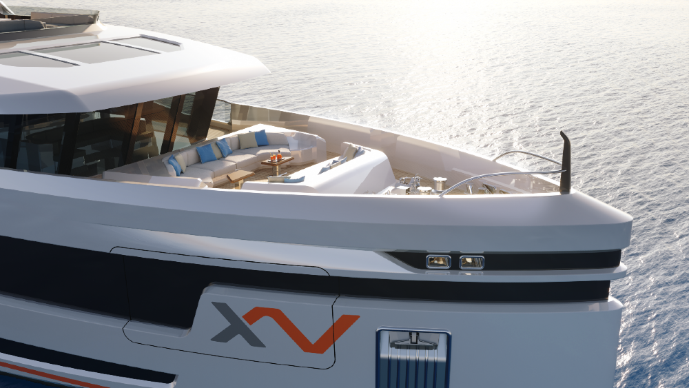 The Heesen XVenture Explorer Yacht's Bow is Luxurious and Open