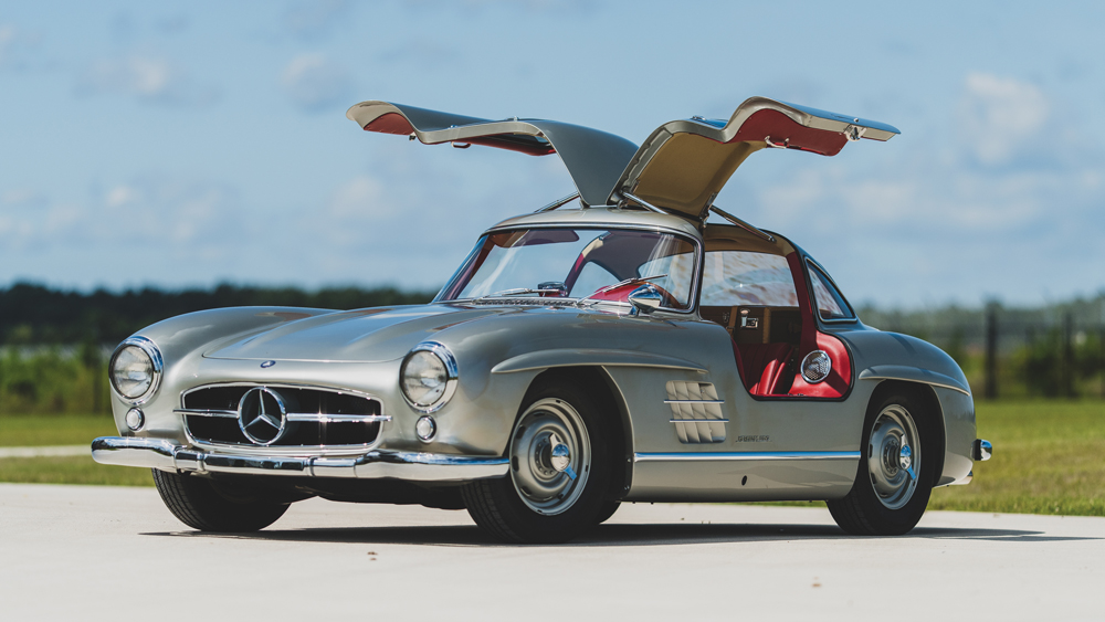 A 1955 Mercedes-Benz 300 SL Gullwing.