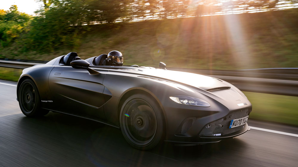 Aston Martin Shows Off The New V12 Speedster In Action Robb Report