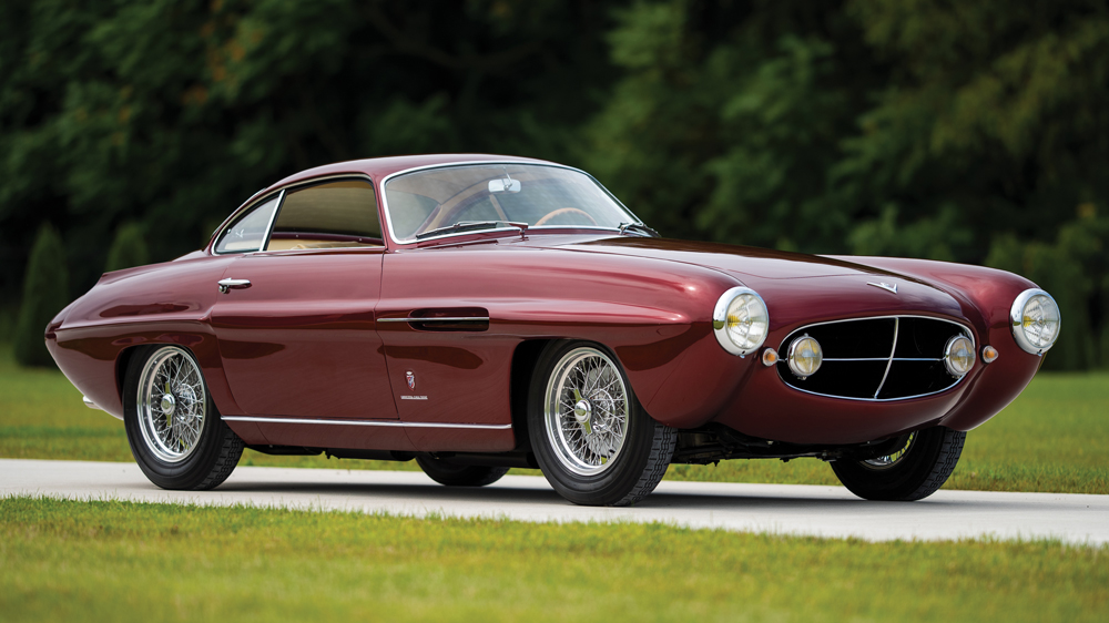 A 1953 Fiat 8V Supersonic with bodywork by Ghia.