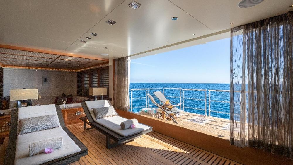 James Bond Yacht Quantum of Solace Beach Club