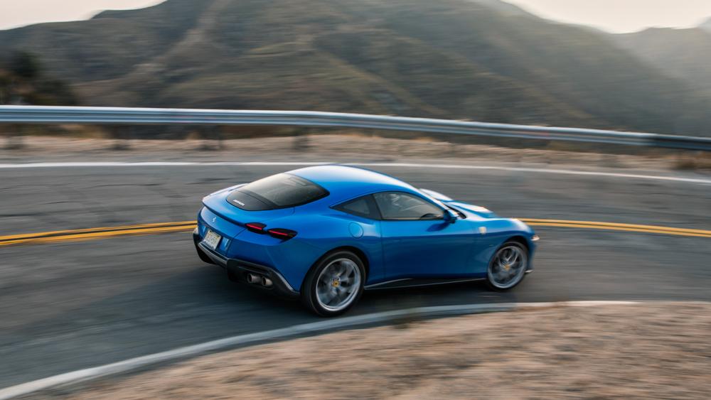 The Ferrari Roma in Southern California.