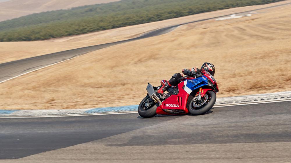 Riding the 2021 Honda CBR1000RR-R Fireblade SP on track.