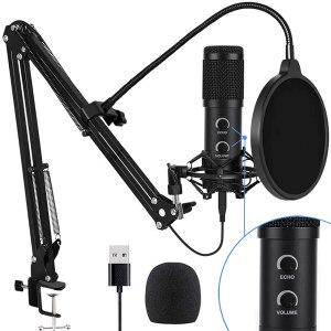 Bonke USB Condenser Podcast Microphone