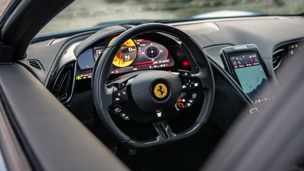 The driver's side of the Ferrari Roma.