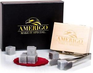 Amerigo Luxury Whiskey Stones Gift Set