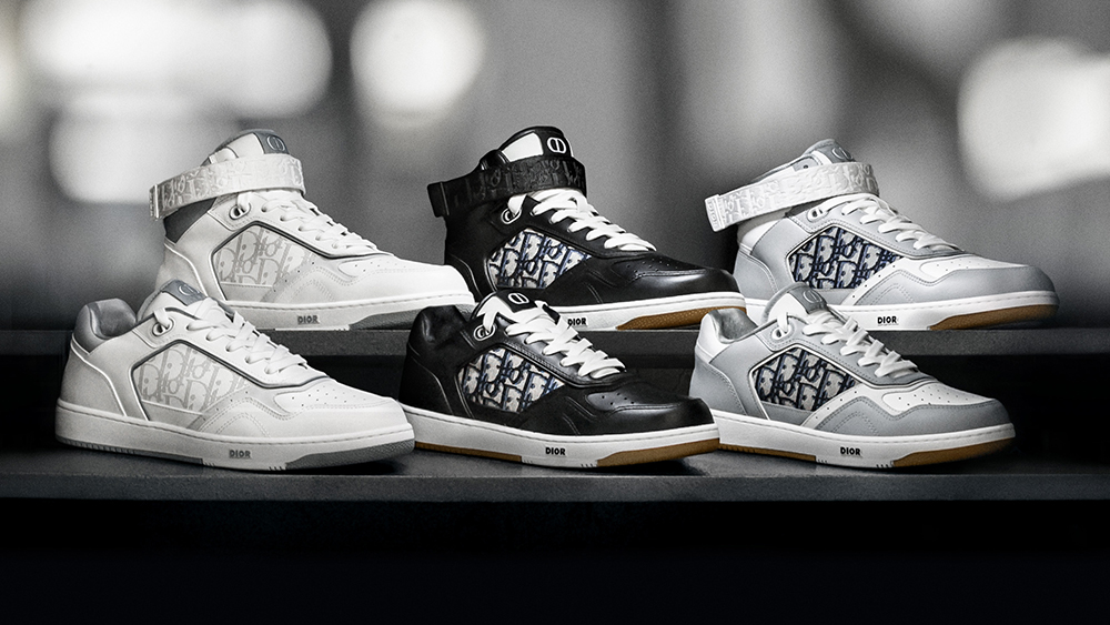 The full range of Dior's new B27 sneakers.