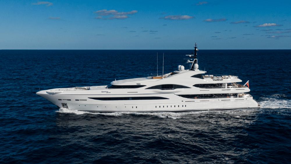 James Bond Yacht Quantum of Solace Aerial