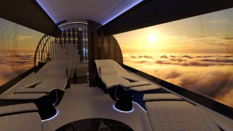 Virtual environment on an aircraft cabin from Yasava Solutions