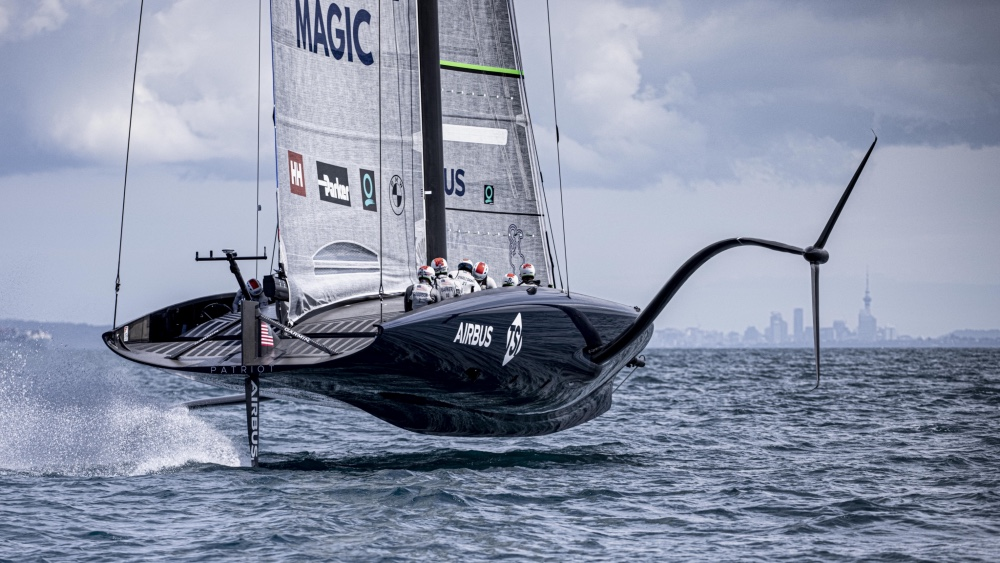 The America's Cup yacht Patriot Made Its Debut in Auckland This Week