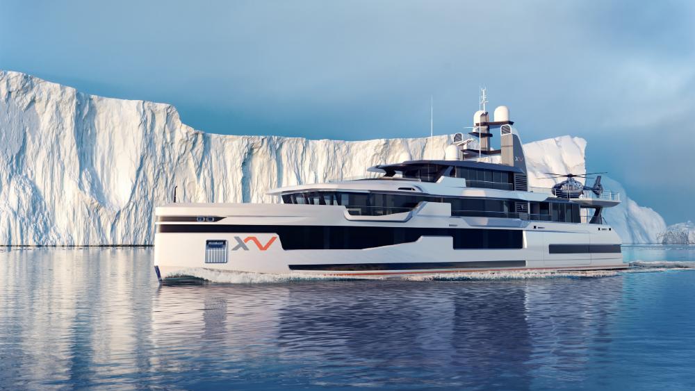 Heesen XVenture Explorer Yacht in the Arctic