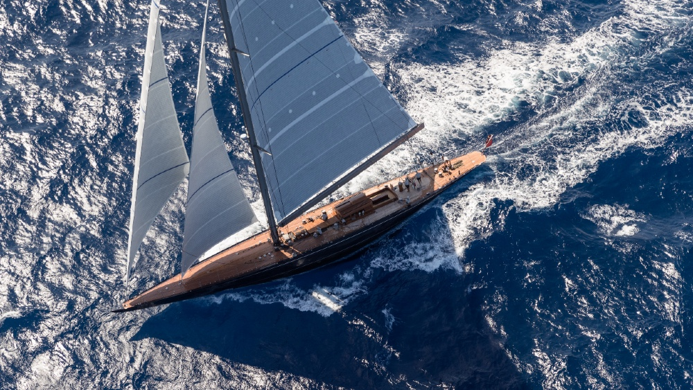 Rainbow is a classic J Class Sailing Superyacht With Modern Technology