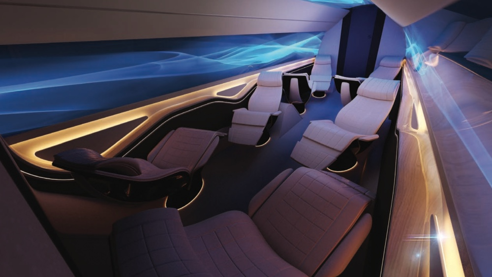 Yasava Solutions OLED Interior Means the Owner Can change the environment in mid-flight