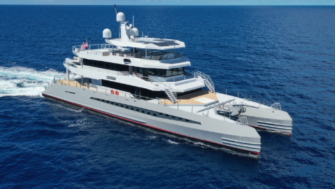 Metal Shark's New 148-foot 40-Meter Superyacht Catamaran Magnet