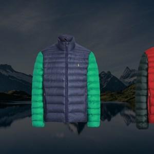 Three men's styles from Ralph Lauren's new custom packable jacket program.