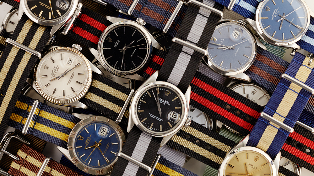 A Collection of The Vintage Watch Company's Nato Straps