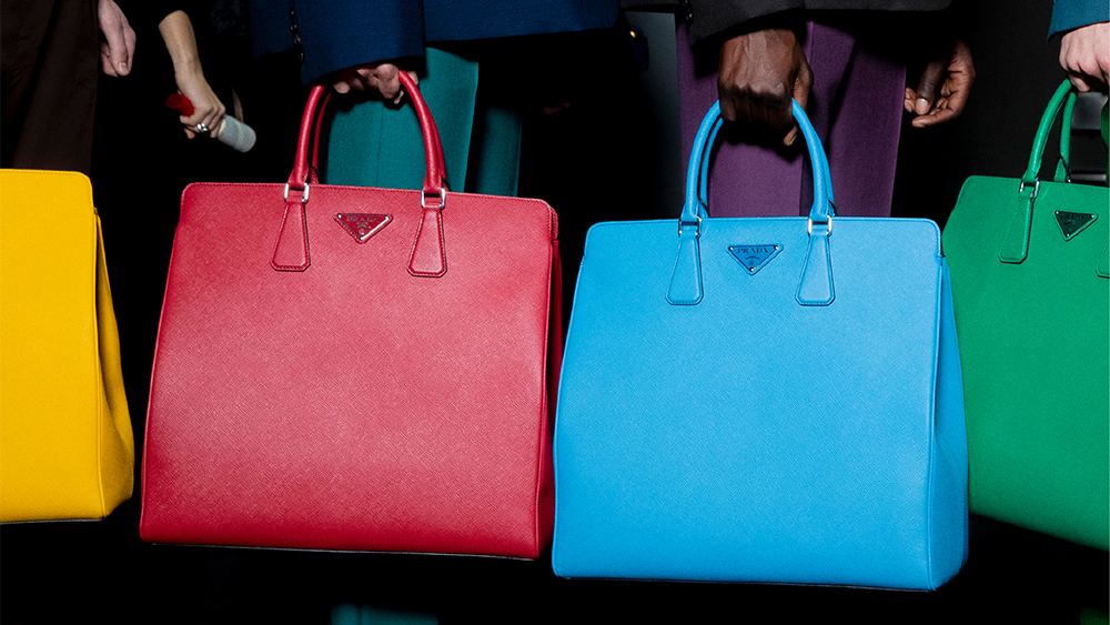 Prada bags featured in the Sotheby's sale.