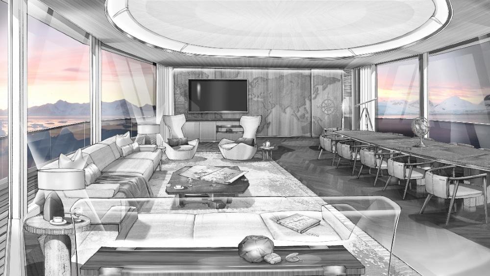 Main Salon of Heesen XVenture Explorer Yacht