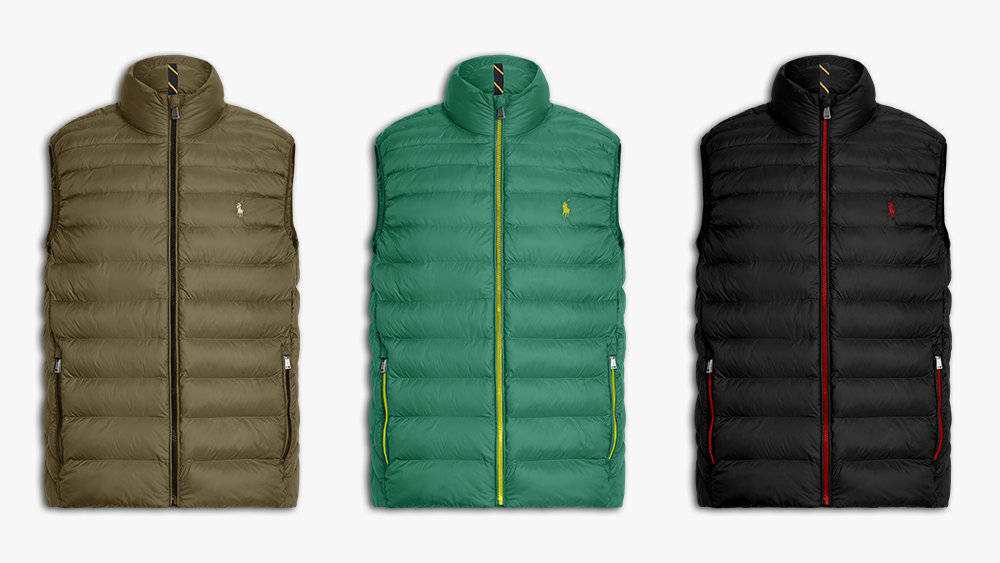 Three variations of the customizable vest.