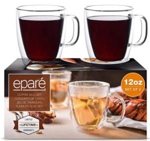 Eparé Glass Coffee Mugs