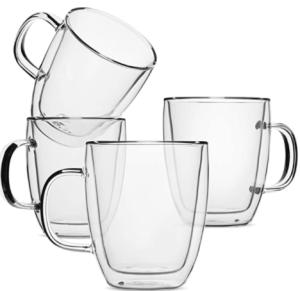 Brew to a Tea Insulated Glass Coffee Mug