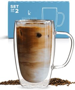 Kitchenables Coffee or Tea Glass Mugs