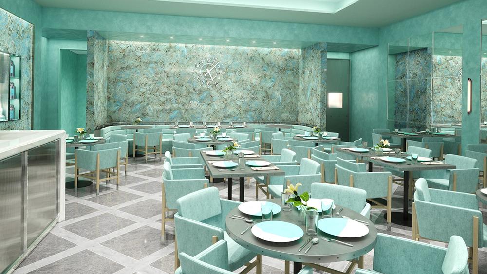 Tiffany & Co. South Coast Plaza Blue Box Cafe
