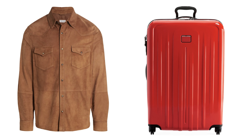 Deal sheet brunello suede tumi suitcase