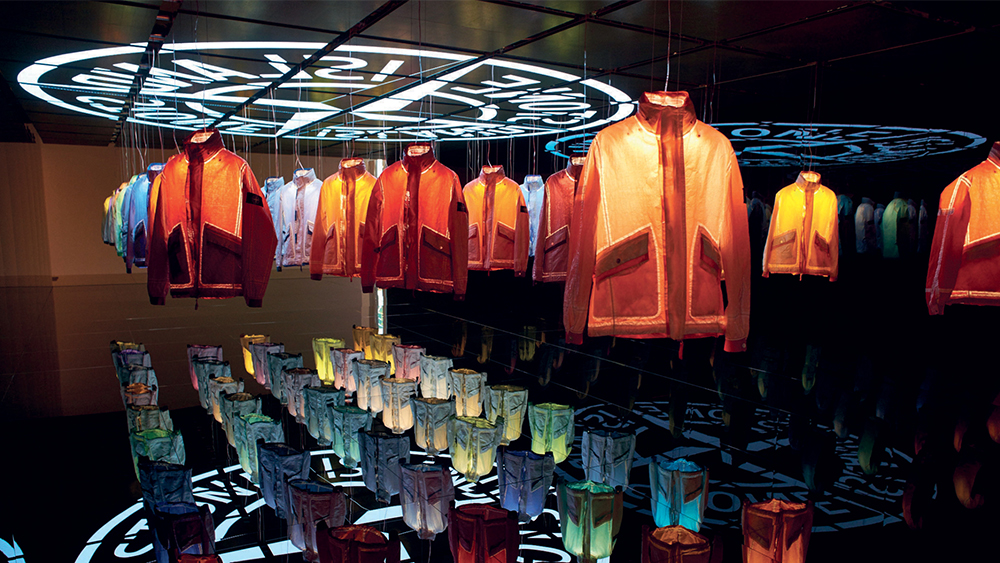 Limited-edition garment-dyed Dyneema jackets.