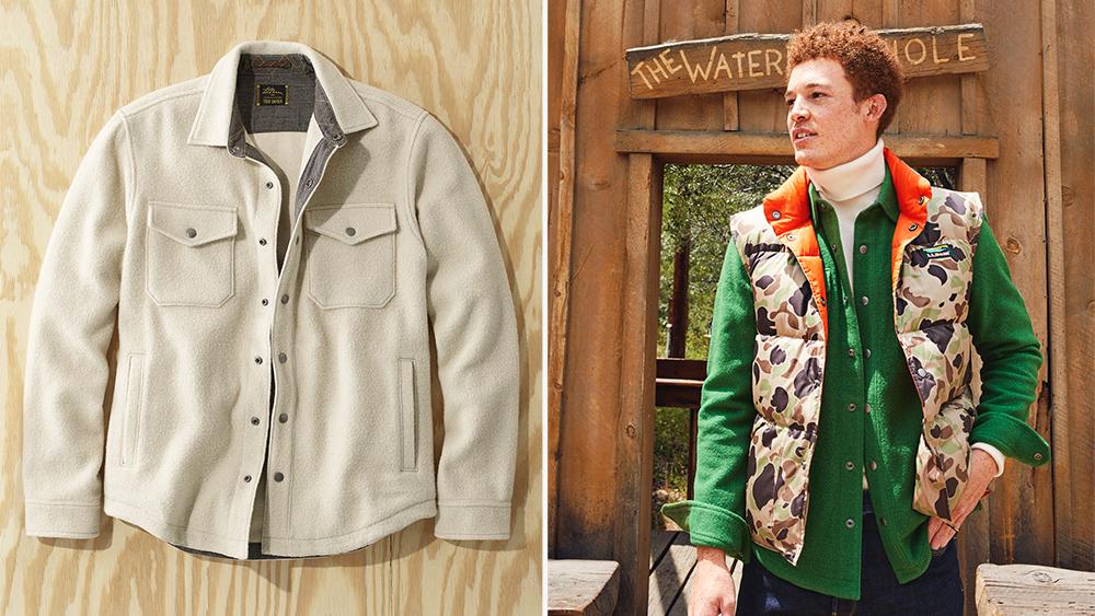 Todd Snyder x L.L. Bean shirt jacket, vest