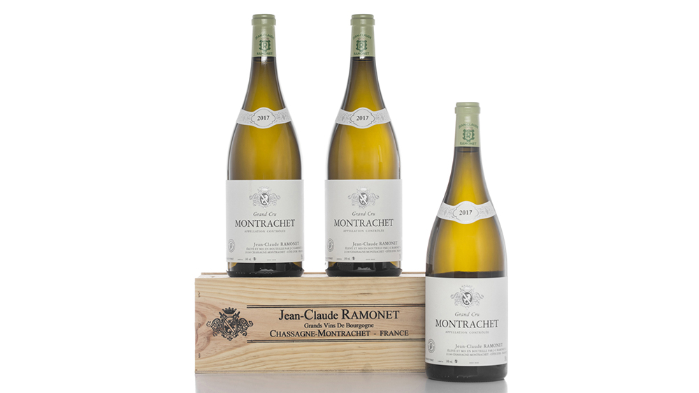 Three magnums of Domaine Jean-Claude Ramonet, Montrachet 2017