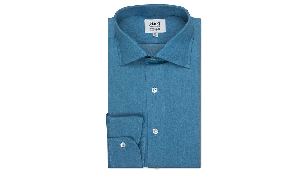 Budd's classic fit denim shirt.